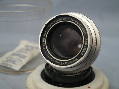 *  85mm * Kodak Retina Tele Arton f4 85mm Cased Prime Portrait Lens -MINT- £49.99